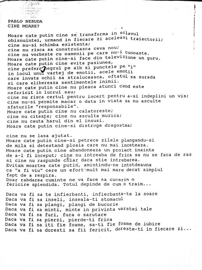PABLO NERUDA- CINE NU MOARE